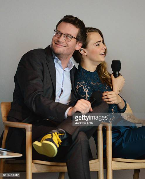 John green pictures and photos getty images john green and cara delevingne speak on stage during meet the filmmaker jake schreier john green m4hsunfo