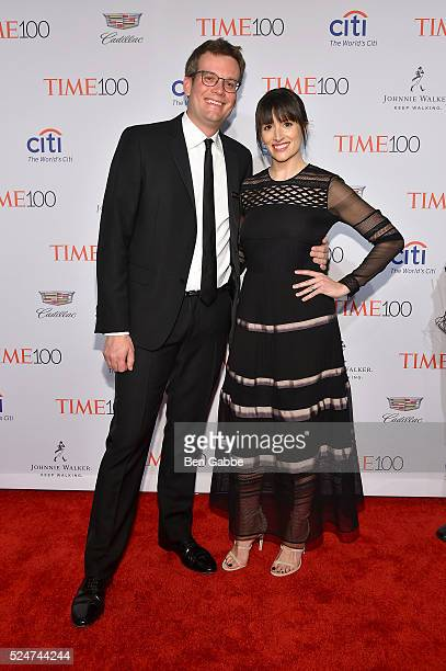 John Green and Sarah Green attend 2016 Time 100 Gala Time's Most Influential People In The World at Jazz At Lincoln Center at the Times Warner Center...