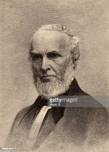 John Greenleaf Whittier American poet born at Haverhill Massachusetts A Quaker and an Abolitionist Photo12/UIG via Getty Images