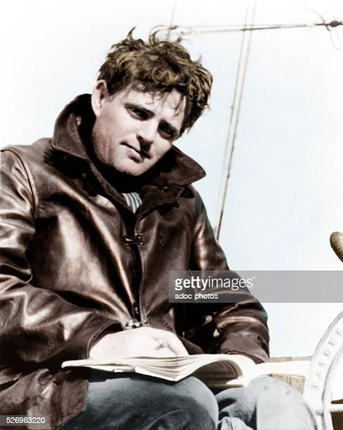 John Griffith Chaney called Jack London American writer born in San Francisco Ca 1915 Coloured photograph