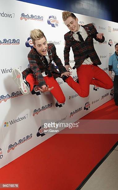 John Grimes and Edward Grimes attend the Capital FM Jingle Bell Ball Day 2 at 02 Arena on December 6 2009 in London England