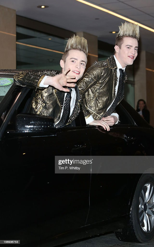 John Grimes and Edward Grimes of Jedward attend the British Academy Children's Awards at London Hilton on November 25, 2012 in London, England.