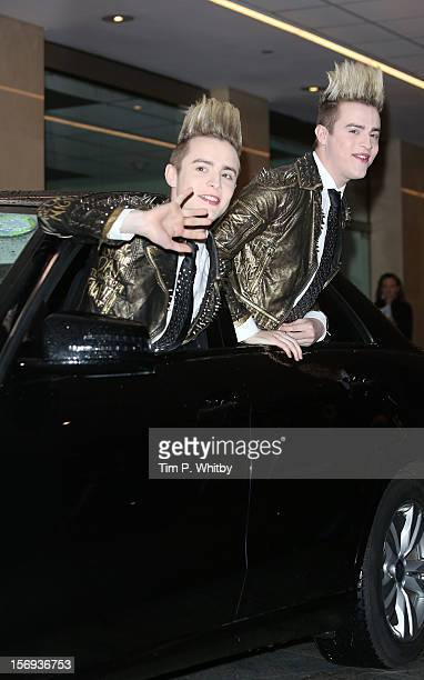 John Grimes and Edward Grimes of Jedward attend the British Academy Children's Awards at London Hilton on November 25 2012 in London England
