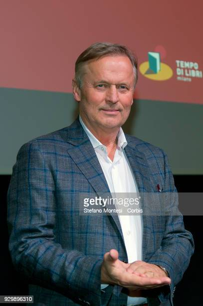 John Grisham american writer during a conference at Tempo di Libri International Fair of Publishing on March 9 2018 in Milan Italy