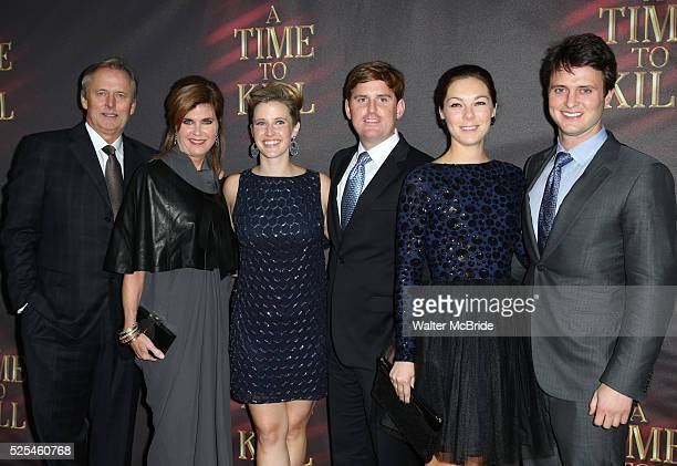 John Grisham with wife Renee Grisham and Family attending the Broadway Opening Night Performance of 'A Time To Kill' at the Golden Theatre in New...