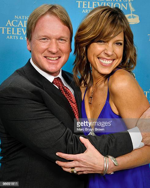 John Gruden and Hannah Storm presenters at the 31st annual Sports Emmy Awards at Frederick P Rose Hall Jazz at Lincoln Center on April 26 2010 in New...