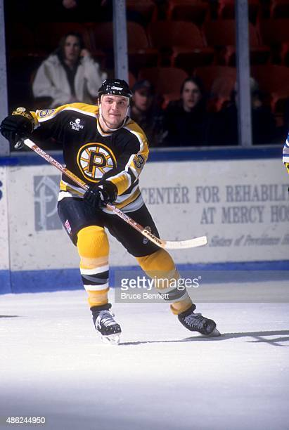 John Gruden of the Providence Bruins skates on the ice during an AHL game in January 1996