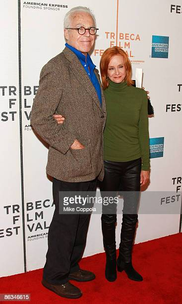 """John Guare and Swoosie Kurtz attend the premiere of """"Poliwood"""" during the 8th Annual Tribeca Film Festival at the BMCC Tribeca Performing Arts Center..."""