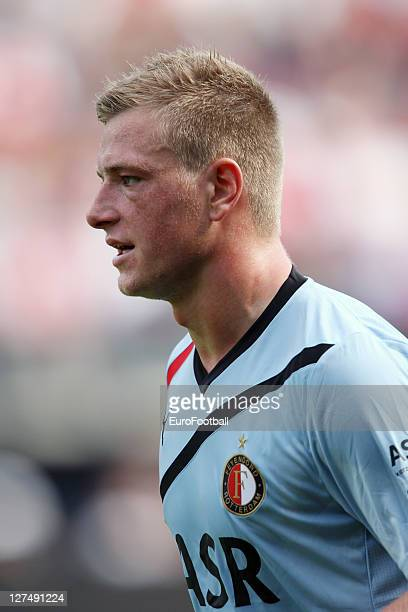John Guidetti of Feyenoord in action during the Dutch Eredivisie match between AZ Alkmaar and Feyenoord on September 25 2011 at the AFAS Stadium in...