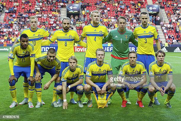 John Guidetti of Sweden Abdullah Khalili of Sweden Filip Helander of Sweden goalkeeper Patrik Carlgren of Sweden Alexander Milosevic of Sweden Isaac...