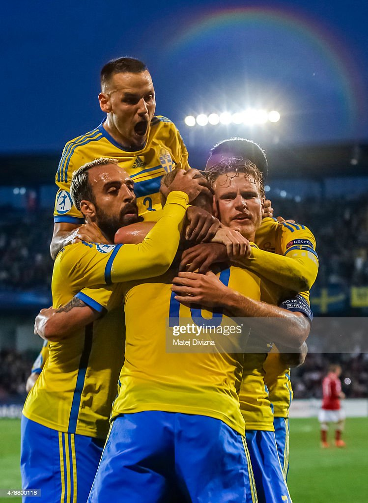 Denmark v Sweden - UEFA Under21 European Championship 2015 : News Photo
