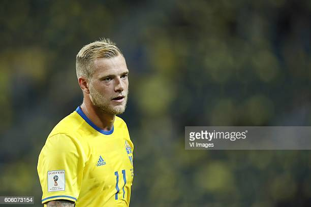 John Guidetti of Sweden during the FIFA World Cup 2018 qualifying match between Sweden and Netherlands on September 6 2016 at the Friends Arena in...