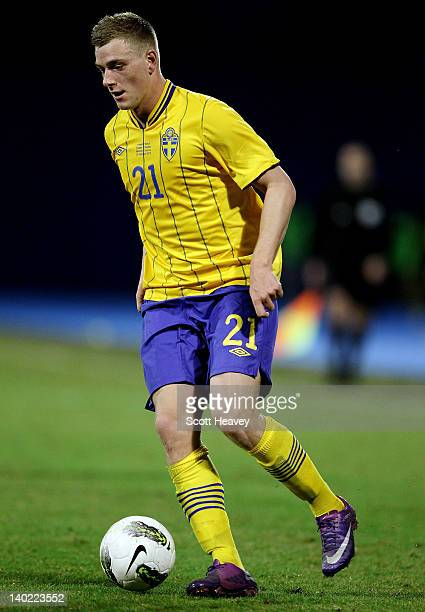 John Guidetti of Sweden during the International Friendly between Croatia and Sweden at the Maksimir Stadium on February 29 2012 in Zagreb Croatia