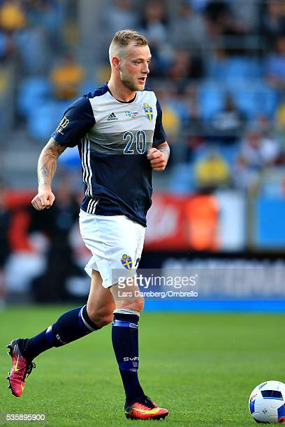 John Guidetti of Sweden during the international friendly match between Sweden and Slovenia on May 30 2016 in Malmo Sweden