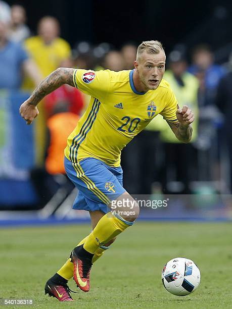 John Guidetti of Sweden during the UEFA EURO 2016 Group E group stage match between Republic of Ireland and Sweden at the Stade de France on june 13...