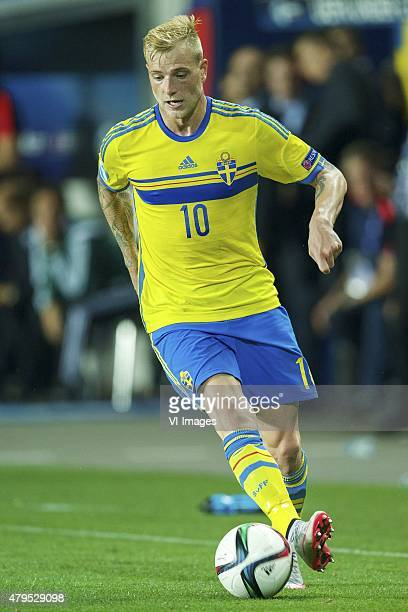 John Guidetti of Sweden during the UEFA European Under21 Championship final match between Sweden and Portugal on June 30 2015 at the Eden stadium in...
