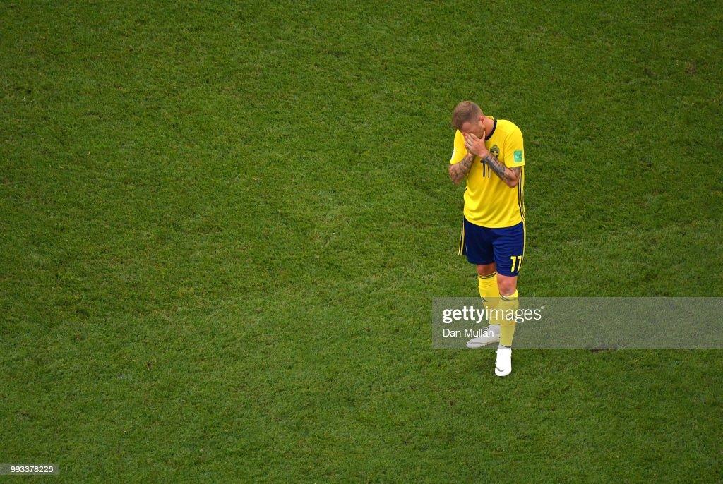 Sweden v England: Quarter Final - 2018 FIFA World Cup Russia : Nachrichtenfoto