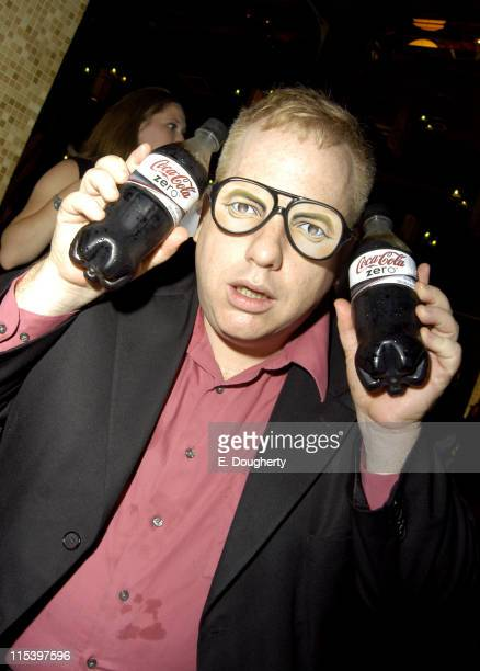 John Gulager Project Greenlight winner director with CocaCola Zero at Entertainment Weekly's Must List Party