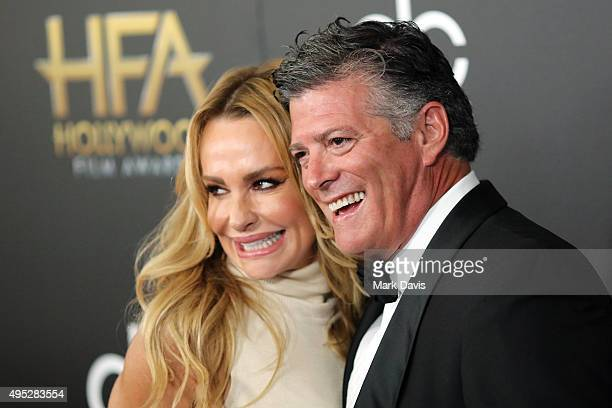 John H Bluher and TV personality Taylor Armstrong attend the 19th Annual Hollywood Film Awards at The Beverly Hilton Hotel on November 1 2015 in...