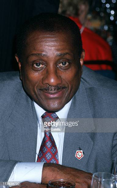 John H Johnson during Mike Tyson vs Michael Spinks Fight at Trump Plaza June 27 1988 at Trump Plaza in Atlantic City New Jersey United States