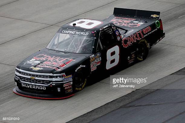 John H Nemechek driver of the Chevrolet practices for the NASCAR Camping World Truck Series at Dover International Speedway on May 12 2016 in Dover...