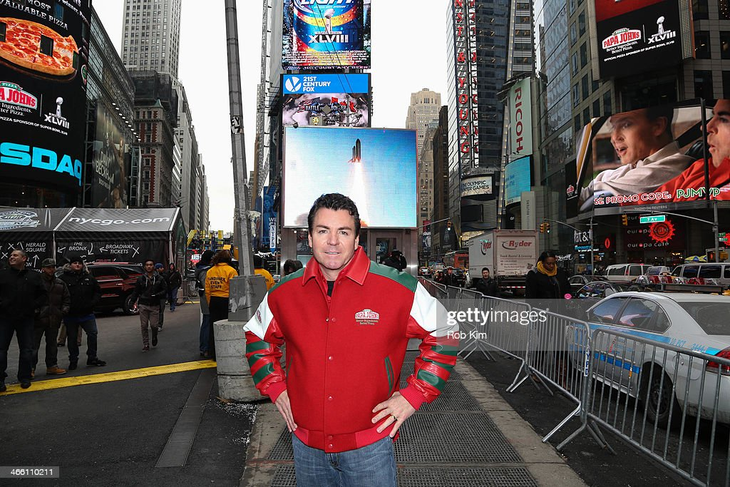 Papa John's International Rings the NASDAQ Opening Bell : News Photo