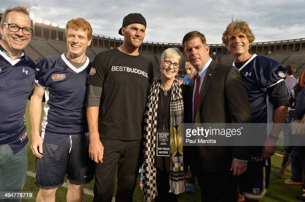 John Hailer Joe Kennedy Tom Brady Joanne Jaxtimer Marty Walsh and Anthony Shriver attend the Tom Brady Football Challenge for the Best Buddies...