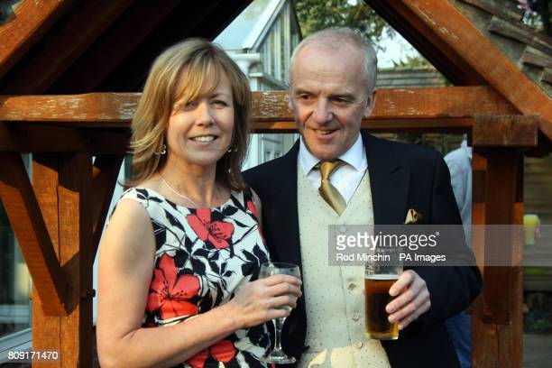 John Haley landlord of the Boot Inn in Bucklebury and his partner Pam Brown after returning from the wedding of Prince William and Kate Middleton the...