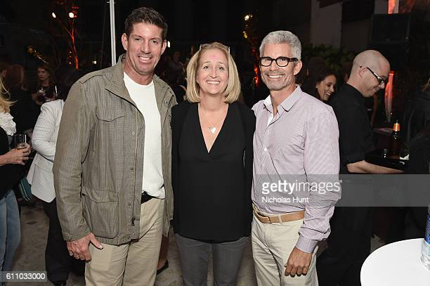 John Hall, Michael Murray and Carrie Witmer attend the celebration of the launch of Rachael Ray's Nutrish DISH with a Puppy Party on September 28,...