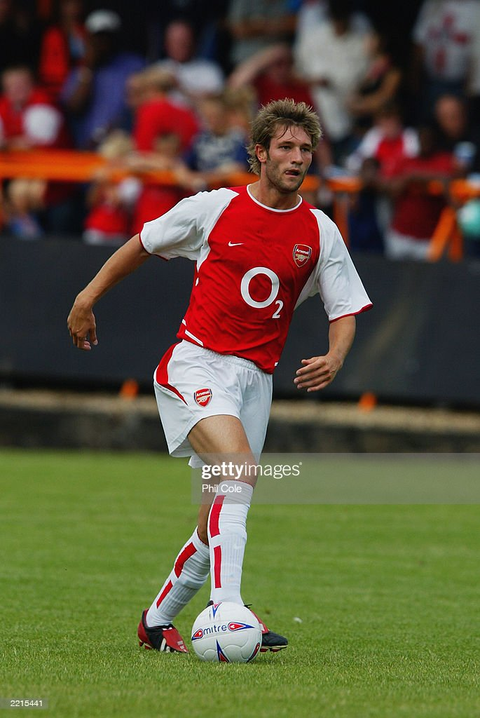 John Halls of Arsenal : News Photo