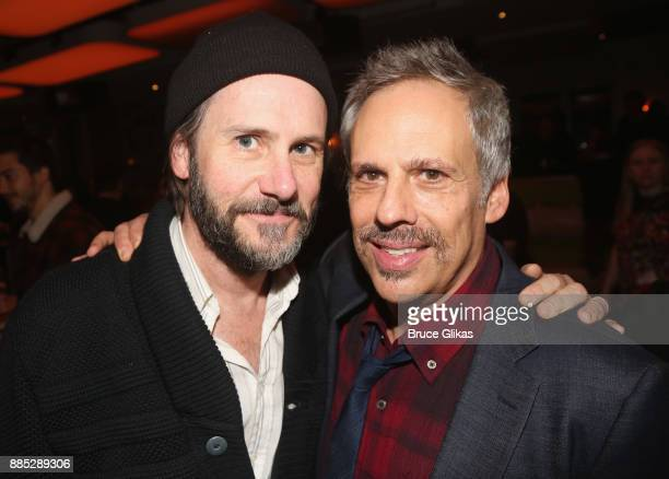 John Hamilton and Josh Pais pose at the opening night of The New Group Theatre's new play 'Downtown Race Riot' at Green Fig Urban Eatery at Yotel on...