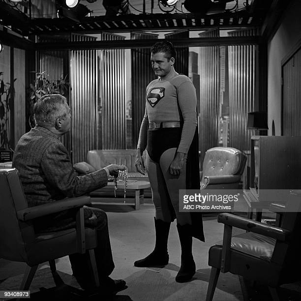 SUPERMAN John Hamilton as 'Perry White' and George Reeves stars as 'Superman'