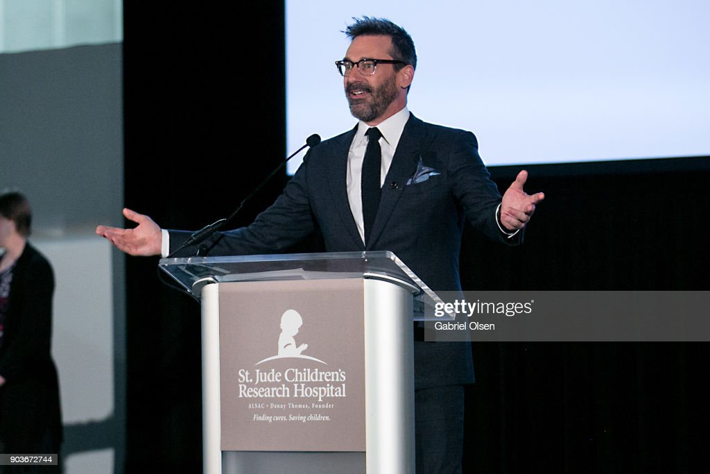 John Hamm attends the 23rd Annual LA Art Show Opening Night Premiere Gala Benefiting St. Jude Children's Research Hospital at Los Angeles Convention Center on January 10, 2018 in Los Angeles, California.