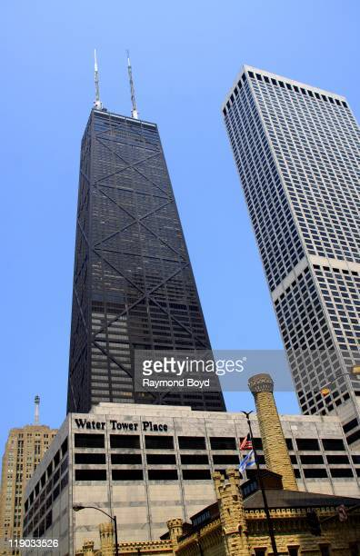 John Hancock Center and Water Tower Place in Chicago Illinois on May 10 2011