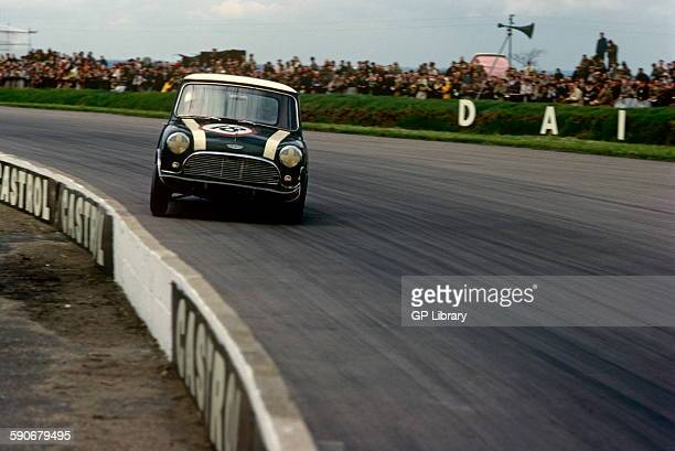 John Handley in Mini Cooper no 18 15 May 1963 Silverstone UK