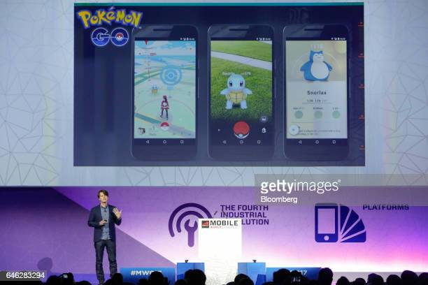John Hanke, chief executive officer of Niantic Inc., speaks during the second day of Mobile World Congress in Barcelona, Spain, on Tuesday, Feb. 28,...