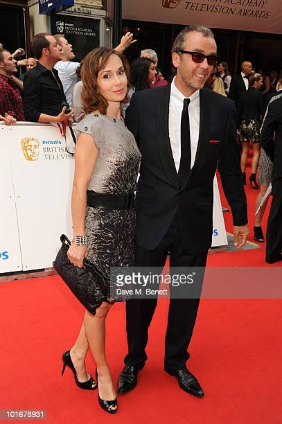 John Hannah and wife Joanna Roth arrives at the Philips British Academy Television Awards at the London Palladium on June 6 2010 in London England