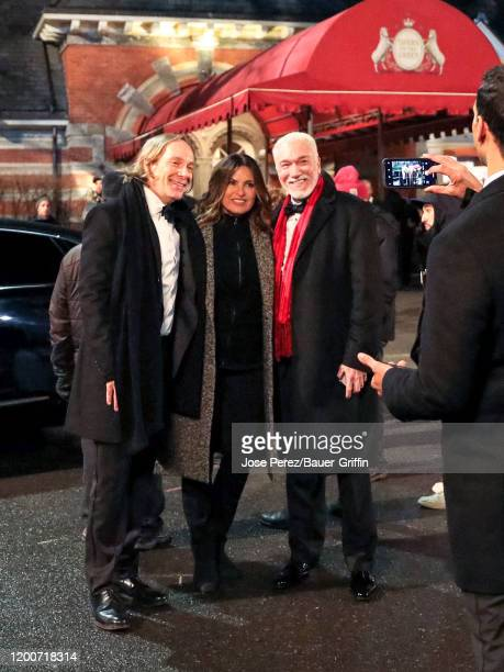 John Hans Tester Mariska Hargitay and Patrick Page are seen at the film set of the 'Law and Order Special Victims Unit' outside the 'Tavern on The...