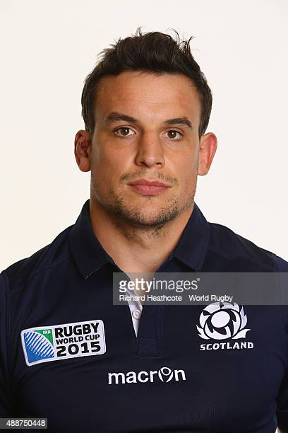 John Hardie of Scotland during the Scotland Rugby World Cup 2015 squad photo call at the Hilton Puckrup Hall Hotel on September 17 2015 in Tewkesbury...
