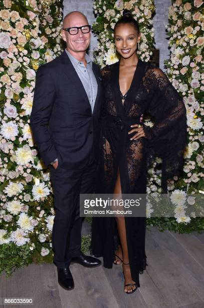 John Hardy CEO Robert Hanson and model Jasmine Tookes attend John Hardy And Vanity Fair Celebrate Legends at Le Coucou on October 24 2017 in New York...