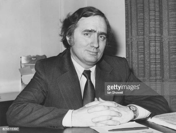 John Harris Baron Harris of Greenwich the new Minister of State at the Home Office at his desk in the Home Office London 1974