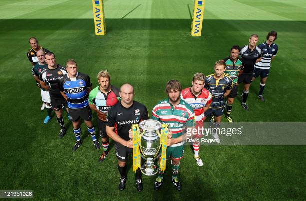John Hart of London Wasps Clarke Dermody of London Irish Tom Hayes of Exeter Chiefs Stuart Hooper of Bath Rugby Chris Robshaw of Harqlequins Steve...