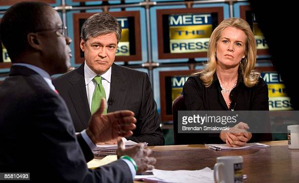 John Harwood Chief Washington Correspondent for CNBC and Katty Kay Washington Correspondent for the BBC World News America listen to Dr Bill Rodgers...