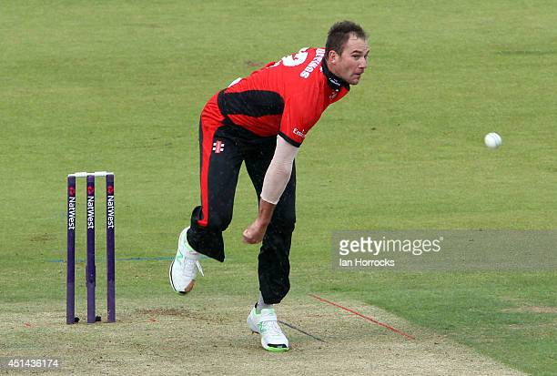 John Hastings of Durham in action during The Natwest T20 Blast match between Durham Jets and Derbyshire Falcons at The Emirates Durham ICG on June 29...