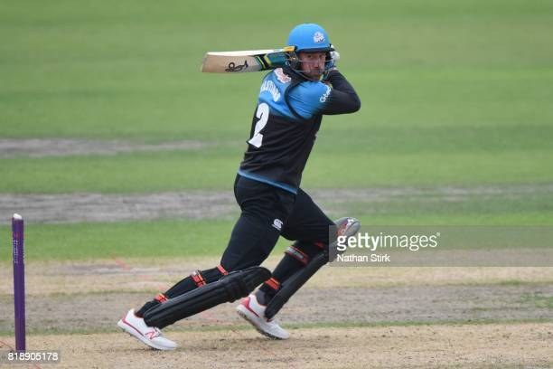 John Hastings of Worcestershire Rapids batting during the NatWest T20 Blast match between Worcestershire Rapids and Derbyshire Falcons at New Road on...