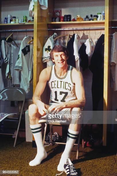 John Havlicek of the Boston Celtics poses for a photo circa 1970 at the Boston Garden in Boston Massachusetts NOTE TO USER User expressly...
