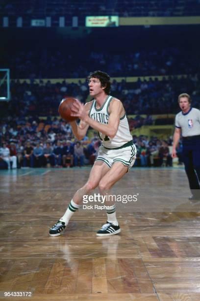 John Havlicek of the Boston Celtics shoots the ball circa 1970 at the Boston Garden in Boston Massachusetts NOTE TO USER User expressly acknowledges...