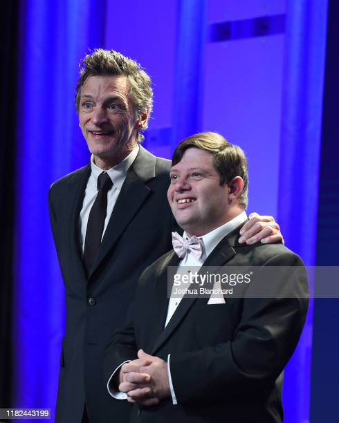 John Hawkes and Zack Gottsagen attend the 40th Annual Media Access Awards In Partnership With Easterseals at The Beverly Hilton Hotel on November 14...
