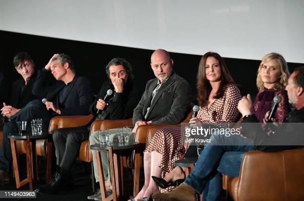John Hawkes, Timothy Olyphant, Ian McShane, Daniel Minahan, Robin Weigert, Kim Dickens and Gregg Fienberg speak onstage at HBO's 'Deadwood' FYC...