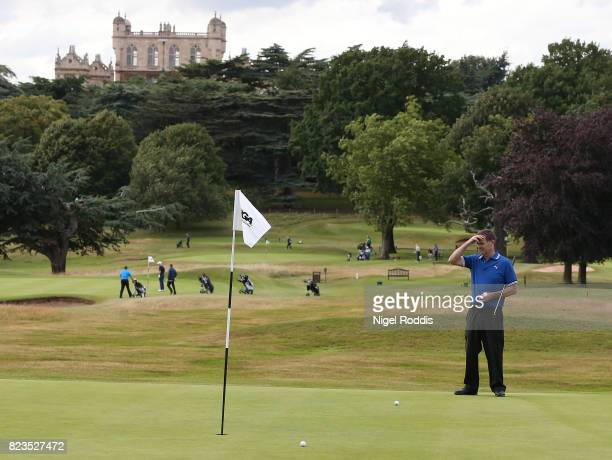 NOTTINGHAM ENGLAND JULY 27 John Hay of Waterlooville Golf Club during Day 2 of the PGA Super 60s Tournament on July 27 2017 in Nottingham England